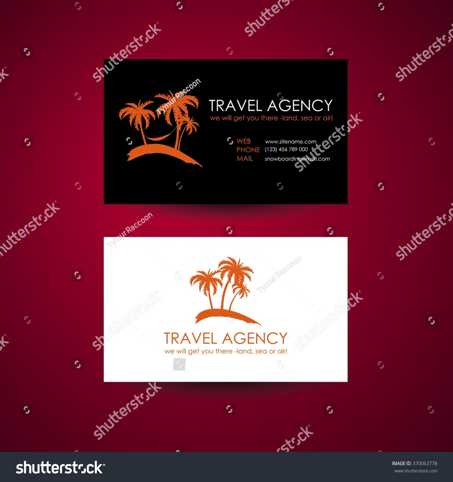 Travel Agency Business Card Template Travel Stock Photo (Photo ...