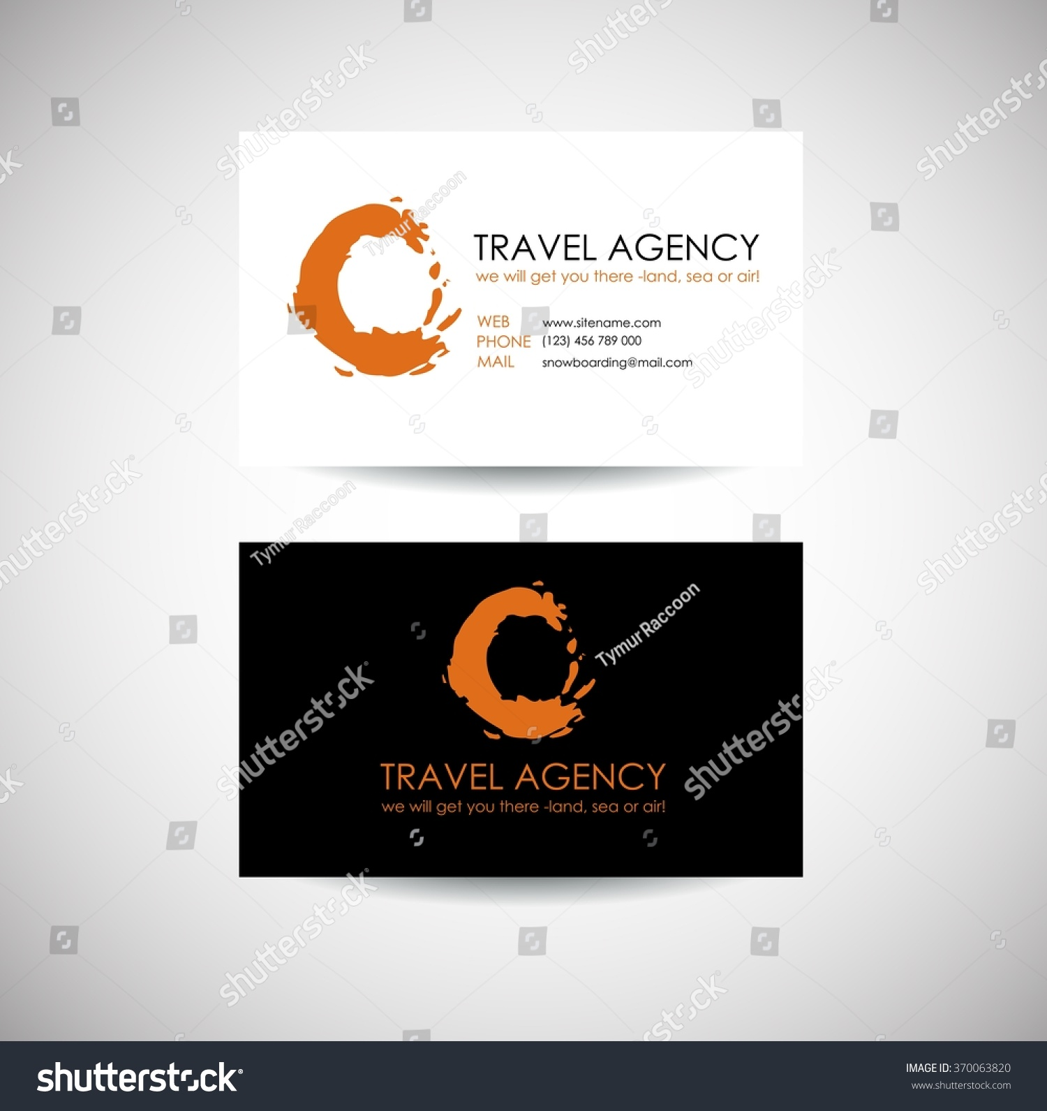 Travel agency business card template travel stock vector 370063820 travel agency business card template travel agency logo design idea magicingreecefo Choice Image