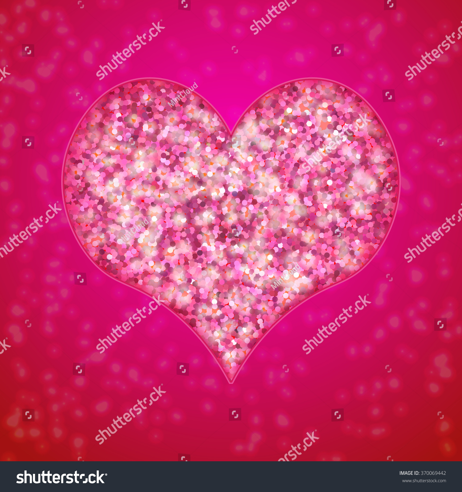 Vector Romantic Valentines Day Card Design Vector 370069442 – Romantic Valentine Day Cards