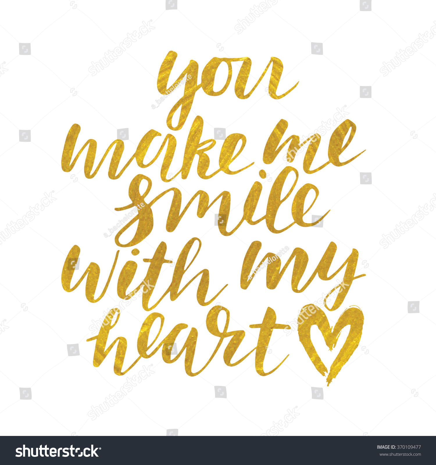 Handwritten You Make Me Smile My Stock Vector Royalty Free