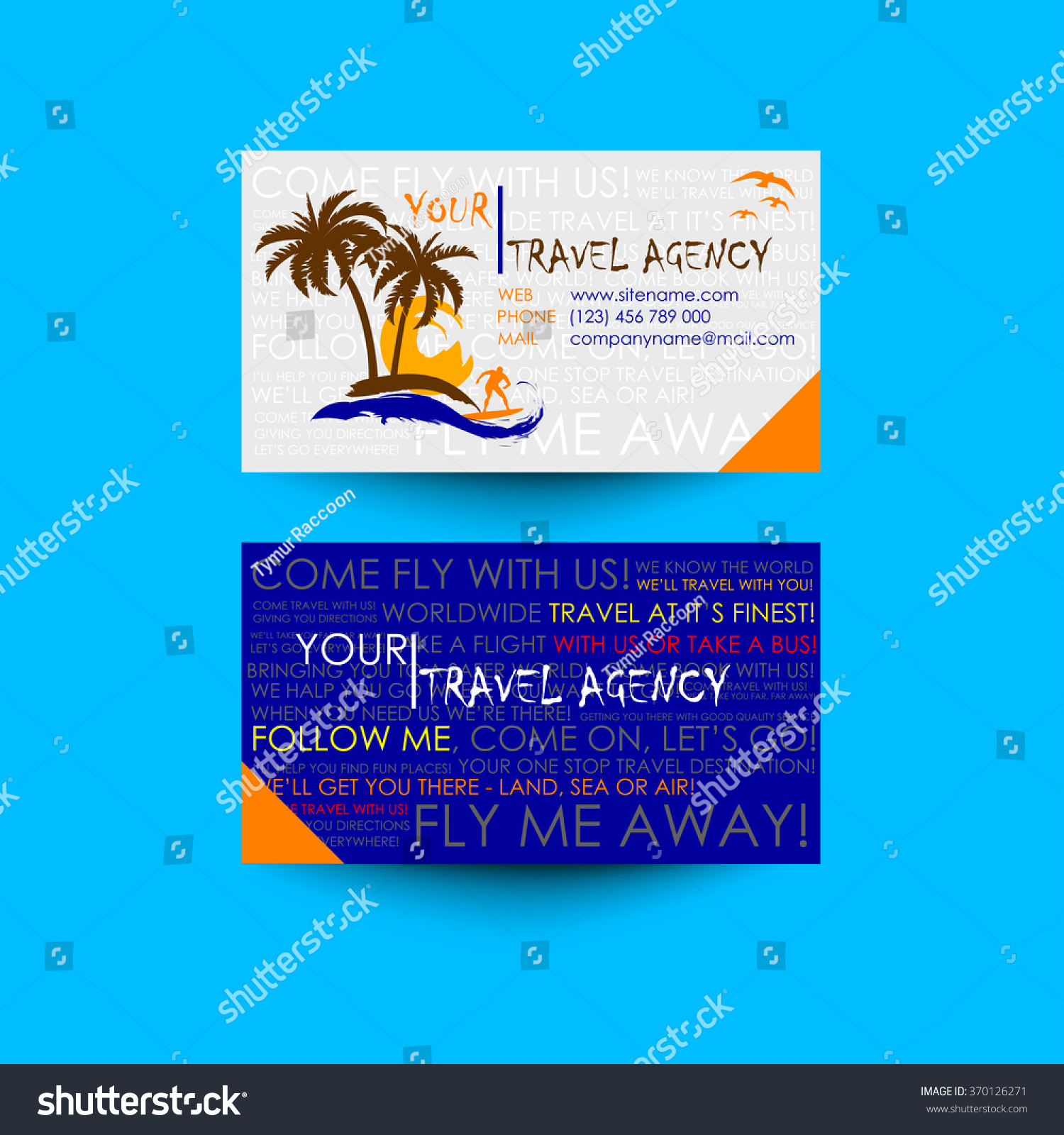 Travel agency business card template logo stock vector 370126271 travel agency business card template logo design idea magicingreecefo Choice Image
