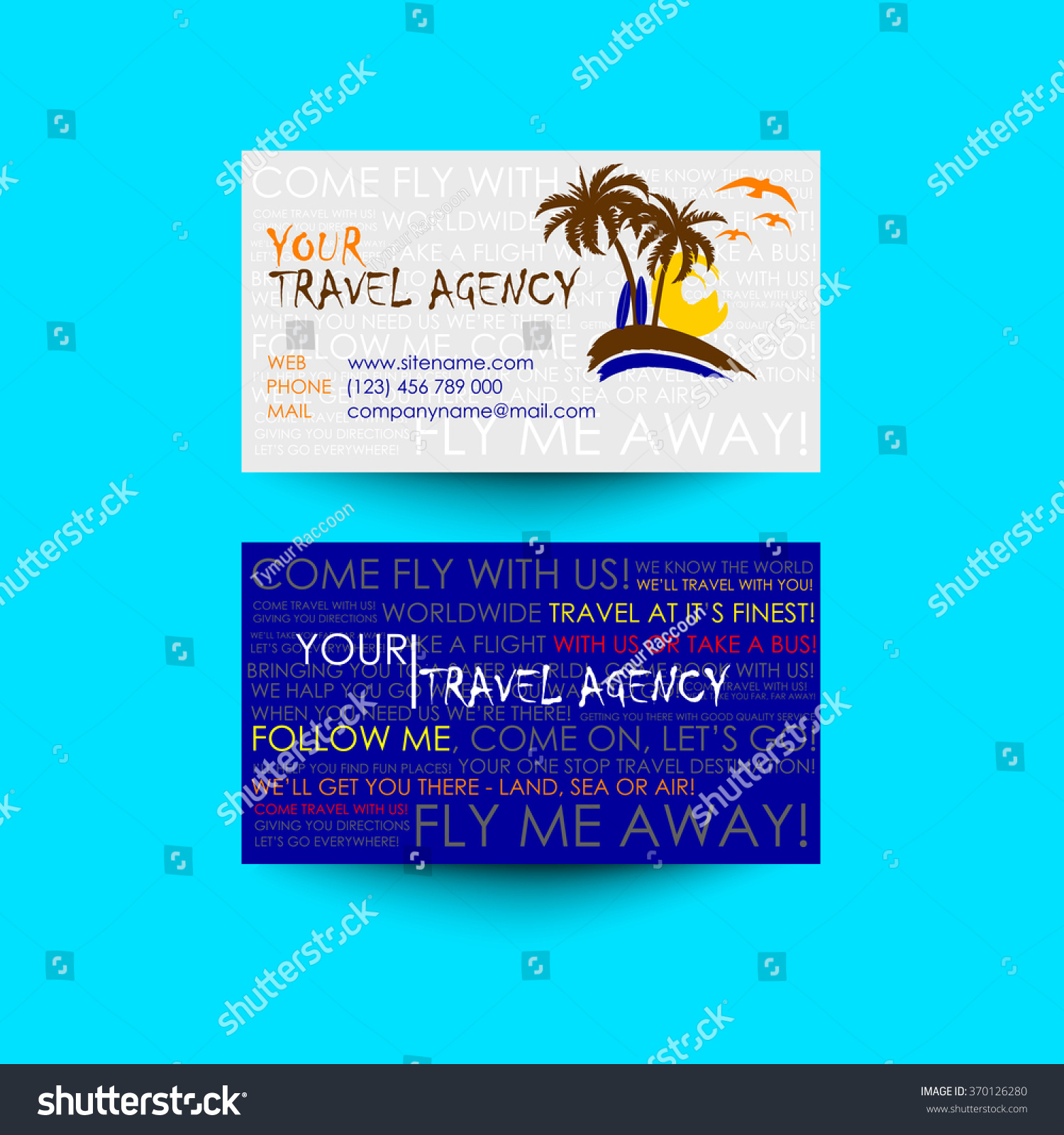 Travel Agency Business Card Template Logo Stock Photo (Photo, Vector ...