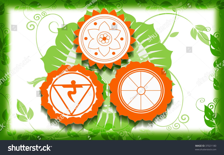 Illustration Hindu Religious Symbols Stock Illustration Royalty