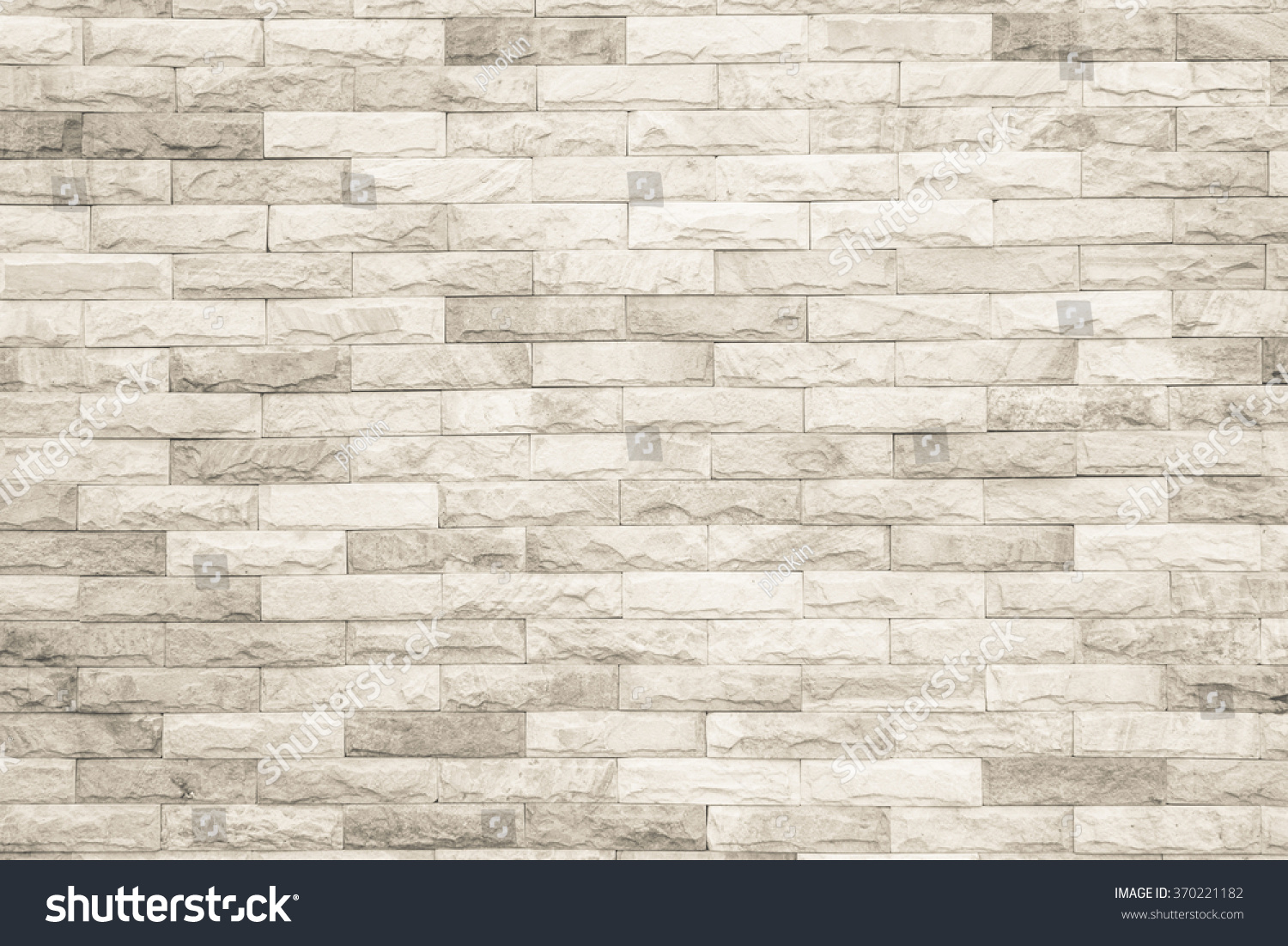Black White Brick Wall Texture Background Stock Photo