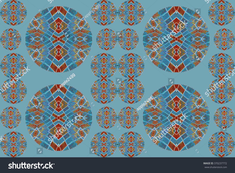 colorful ceramic tile patterns background. | EZ Canvas