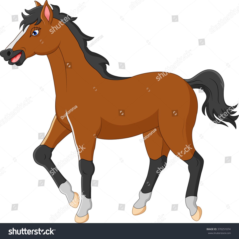 cartoon horse stock vector 370251074 shutterstock