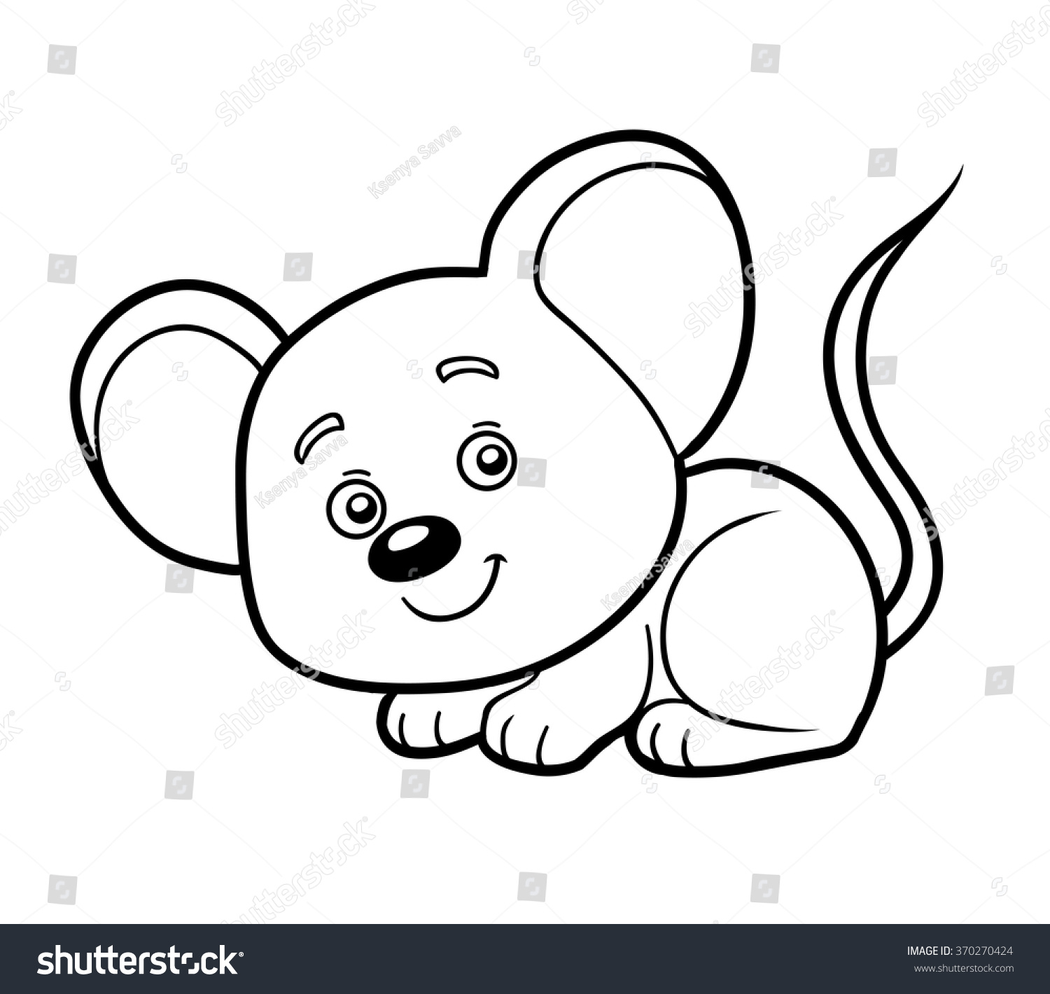 coloring book for children mouse