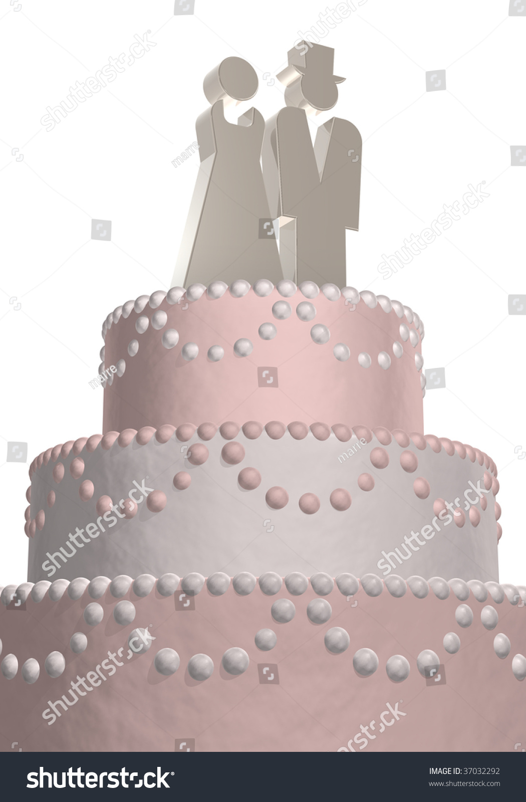 Wedding cake silver symbols male female stock illustration 37032292 wedding cake with silver symbols male and female biocorpaavc Image collections