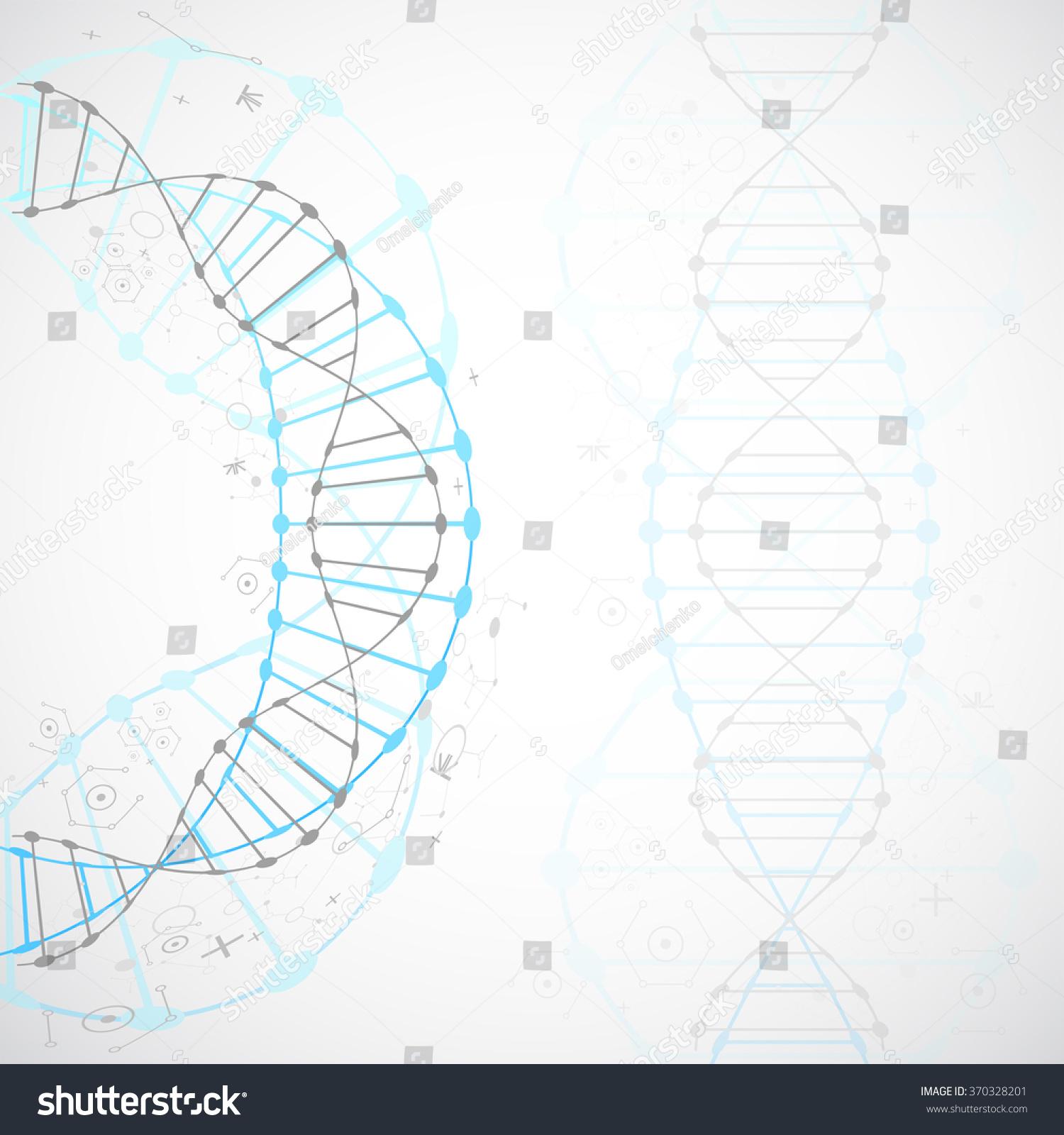 Dna Model Wallpaper: Science Template Wallpaper Banner Dna Molecules Stock