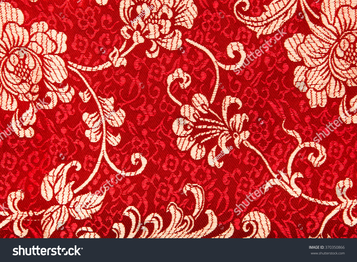 Traditional Chinese Floral Print Pattern On Stock Photo Edit Now
