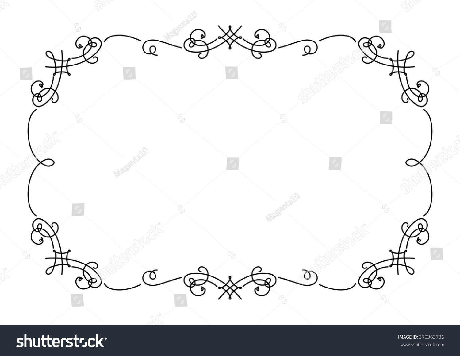 Simple Calligraphy Border Designs Imgkid The