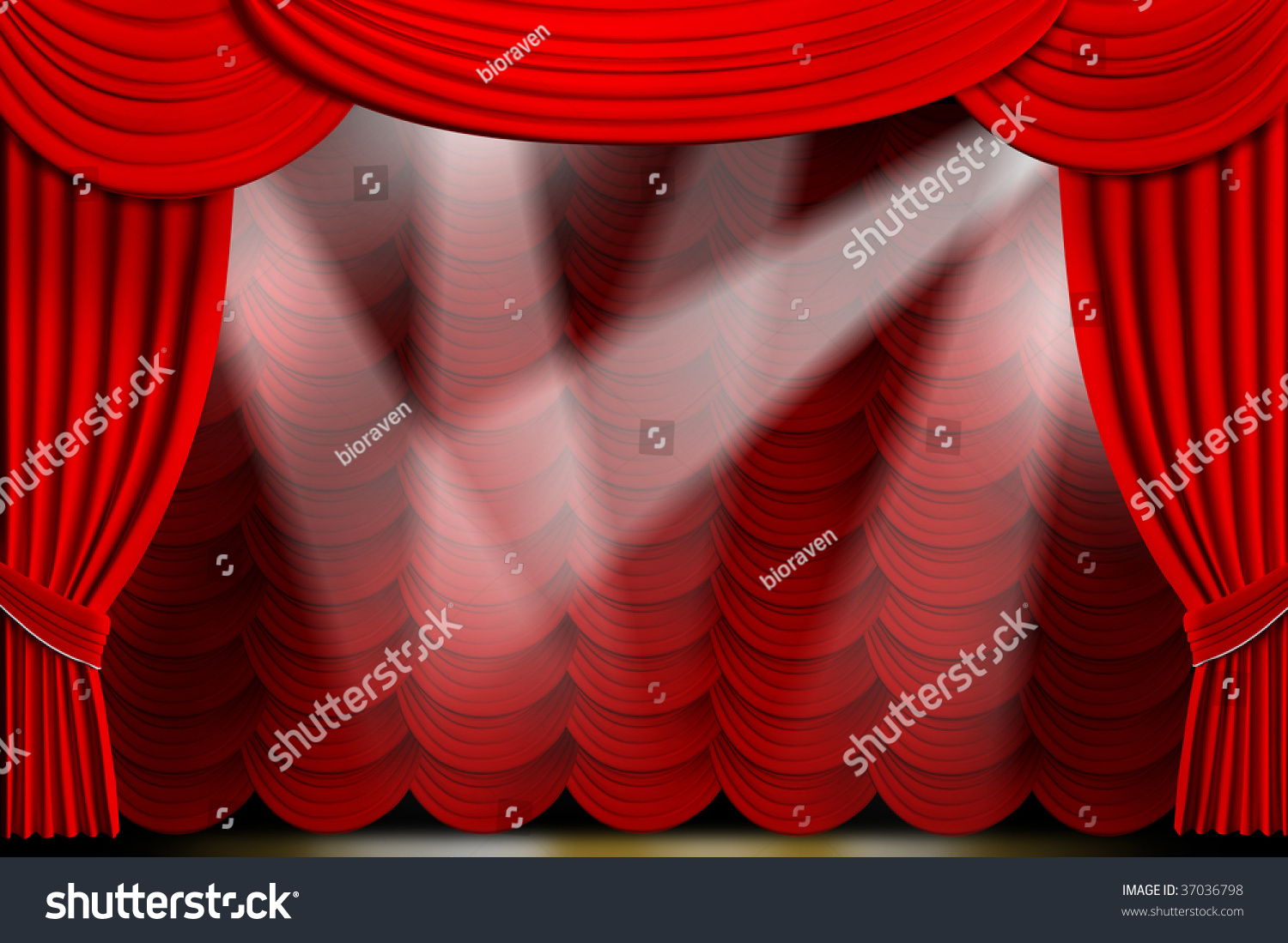 sketch stock stage black theater s vector curtains illustration element curtain open drawing design drapes