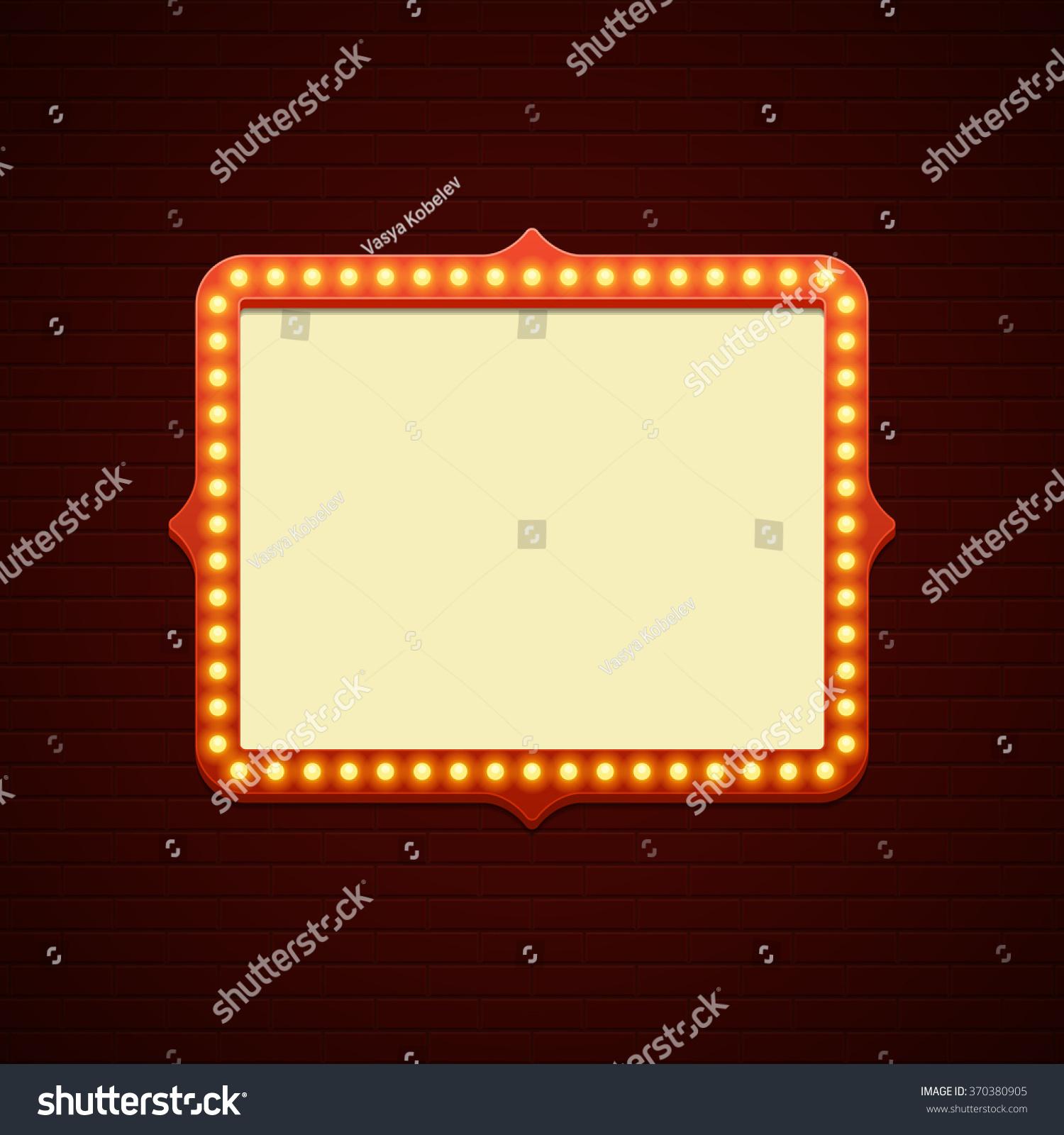 Retro showtime sign design cinema signage stock vector 370380905 shutterstock - Showtime design ...