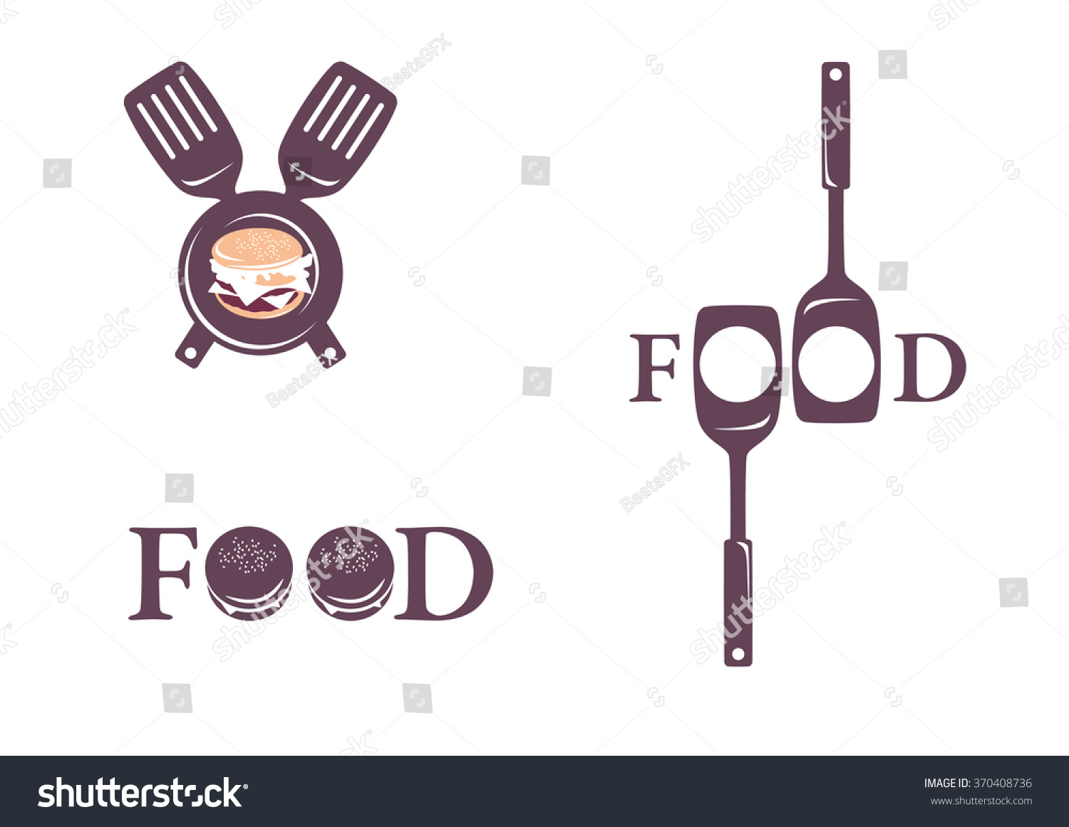 Logo Restaurant Fast Food Home Made Stock Vector HD (Royalty Free ...