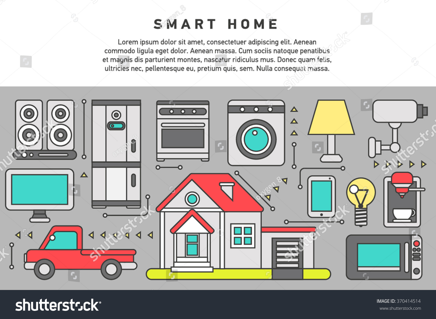 Smart Home Iot Internet Things Control Stock Vector 370414514