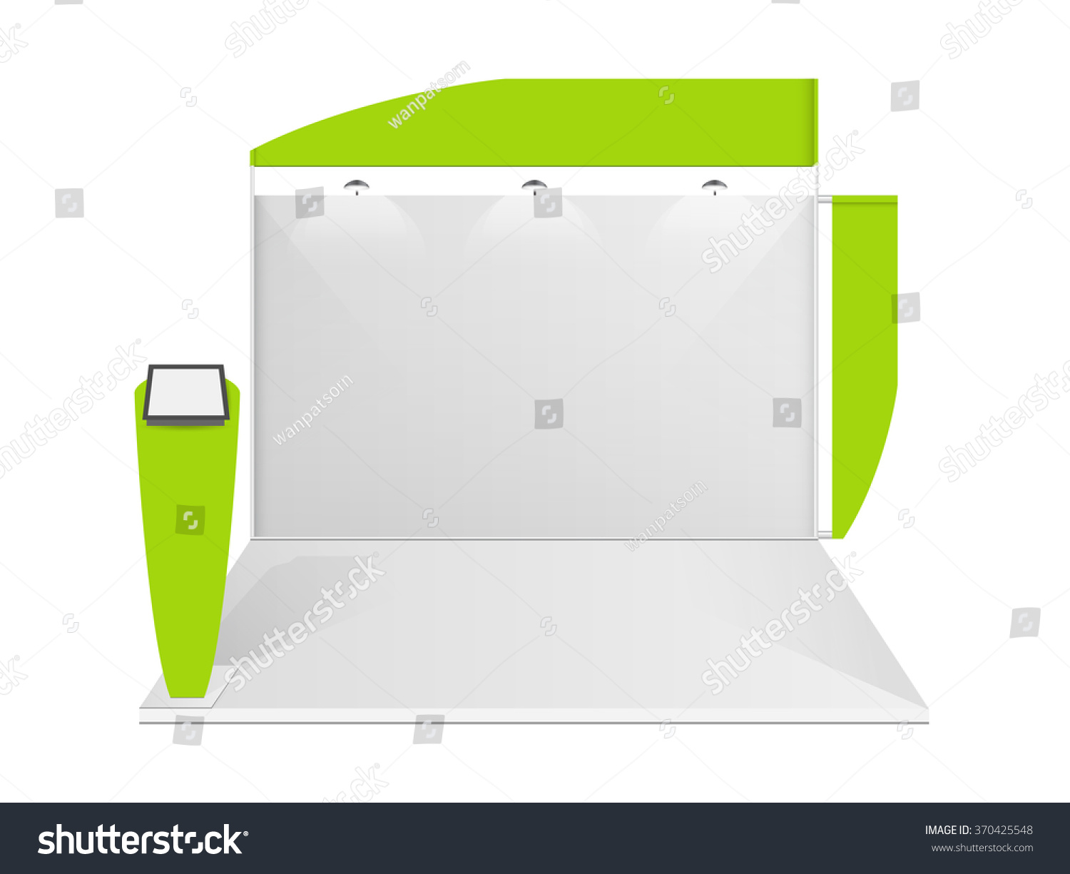 Exhibition Stall Design Vector Free Download : White creative exhibition stand design booth stock vector