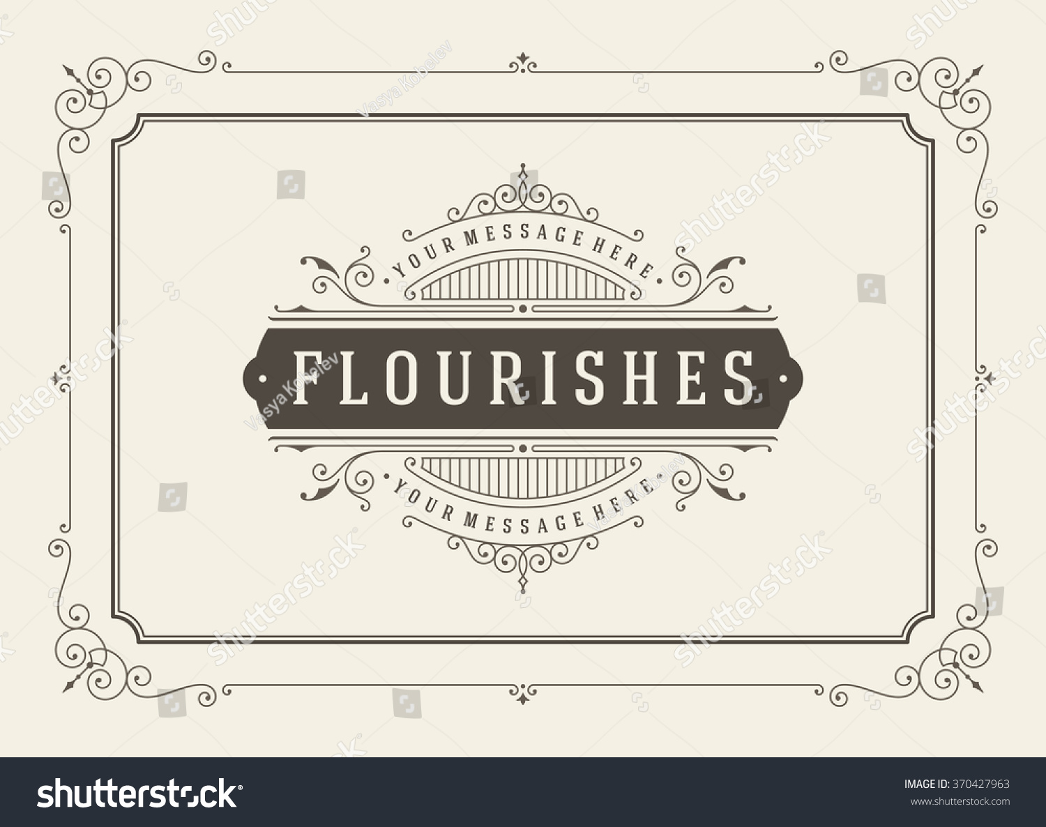 vintage or nt greeting card vector template stock vector vintage or nt greeting card vector template retro luxury invitation royal certificate flourishes frame