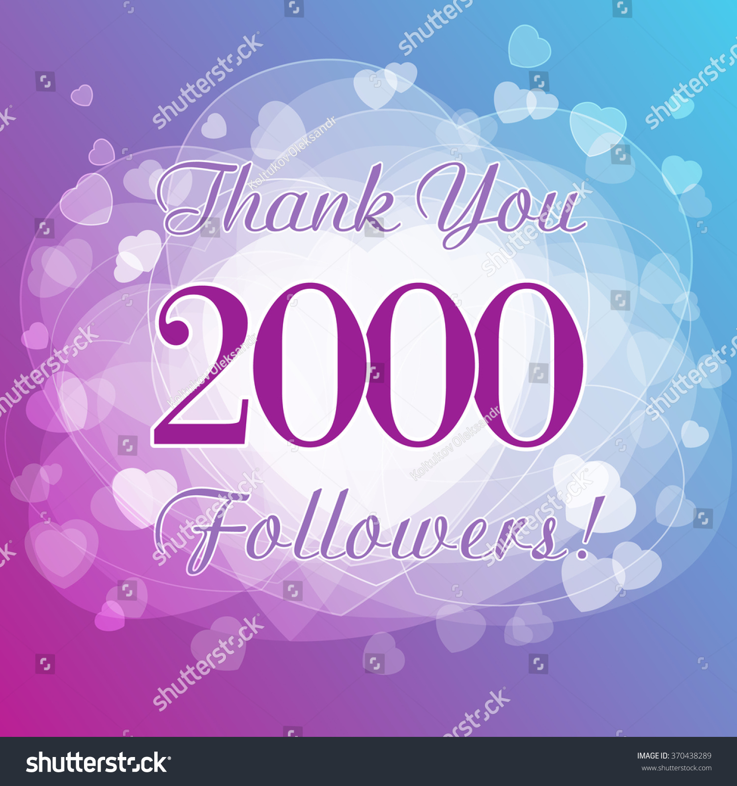 Thank You 2000 Followers Card Picture Stock Vector Royalty Free