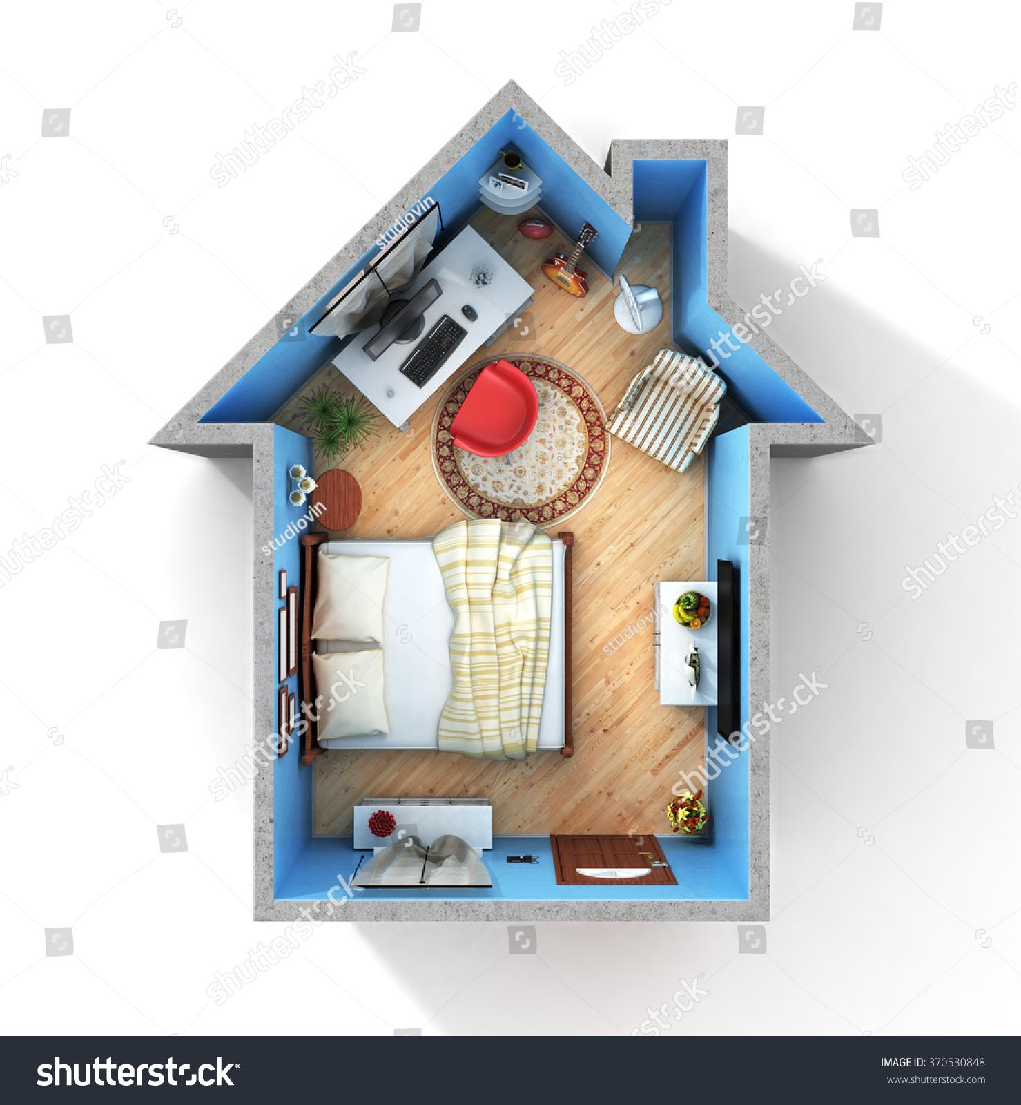 concept home flat full things form stock illustration 370530848 shutterstock. Black Bedroom Furniture Sets. Home Design Ideas