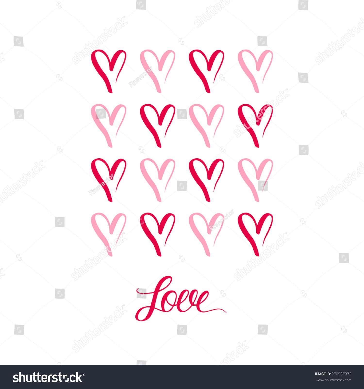 Hand drawn hearts symbols inscription love stock illustration hand drawn hearts symbols with inscription love design illustration biocorpaavc