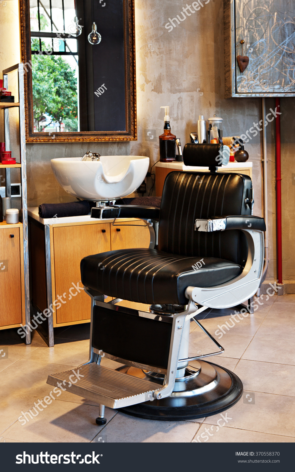Barber shop interior very stylish very stock photo 370558370 shutterstock - Barber shop interior ...