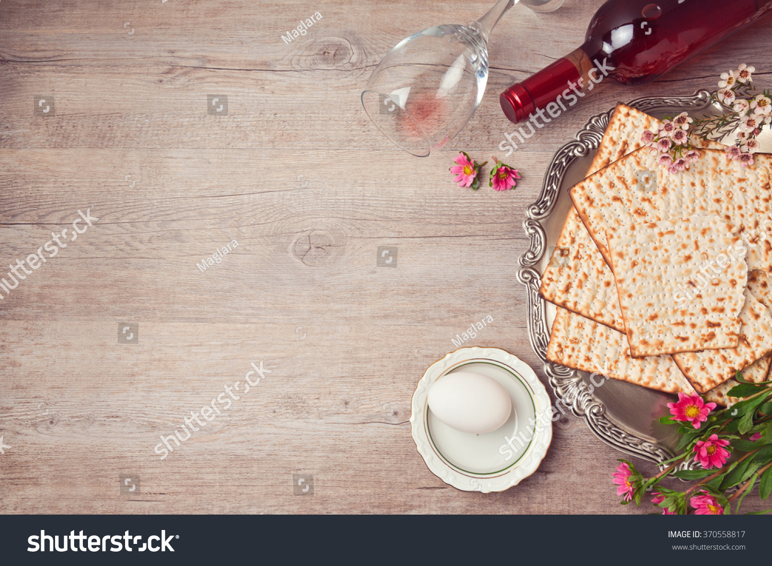 Passover background matzah seder plate wine stock photo 370558817 passover background with matzah seder plate and wine view from above buycottarizona