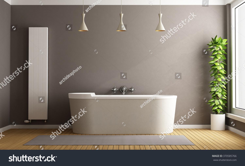Minimalist Bathroom Elegant Bathtub Vertical Heater Stock ...