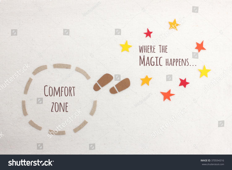 comfort zone vs where magic happens stock photo 370594316 shutterstock. Black Bedroom Furniture Sets. Home Design Ideas