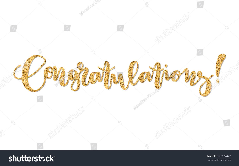 Congratulations hand lettering drawn quote