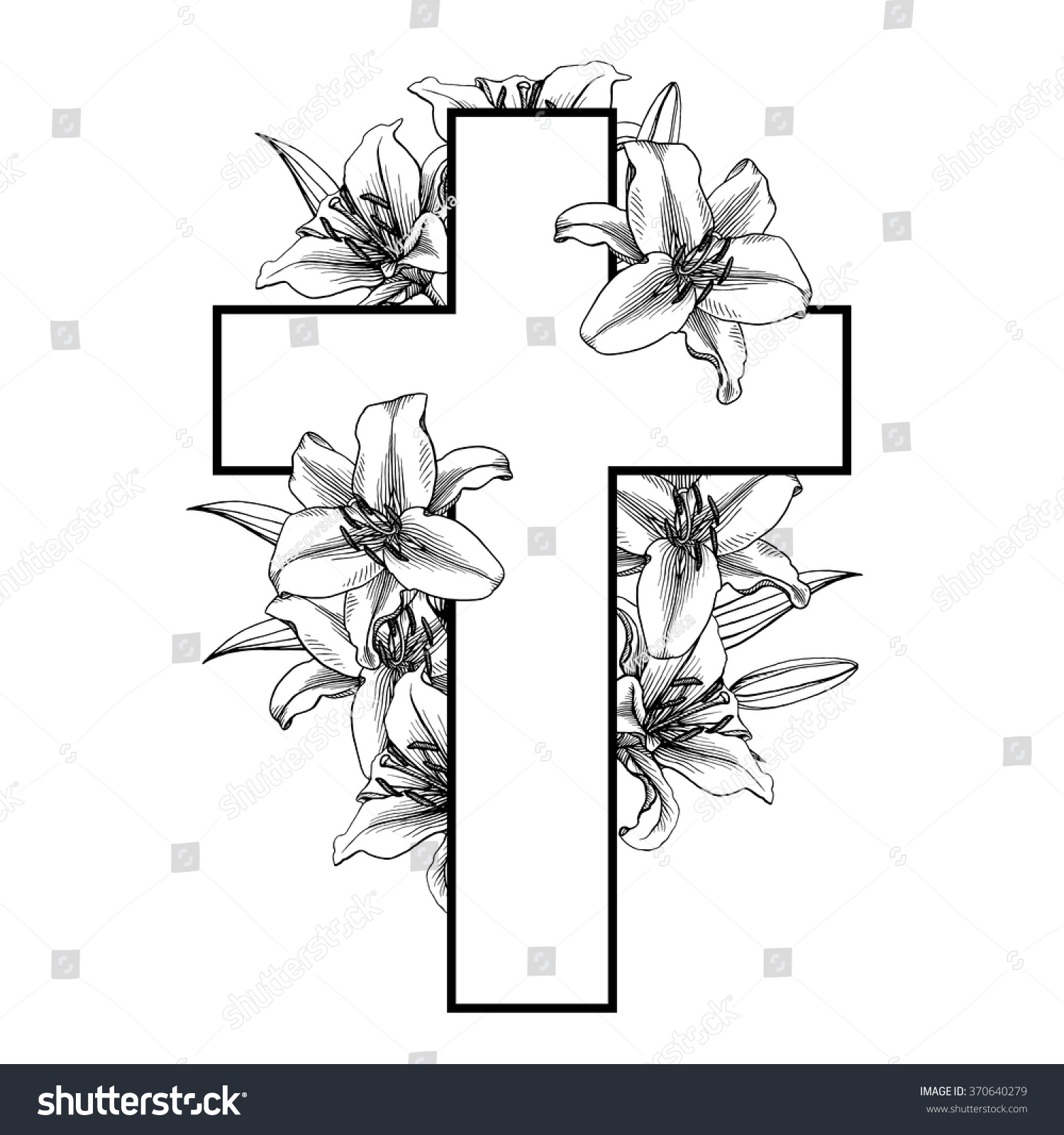 Flowers and pictures of black white