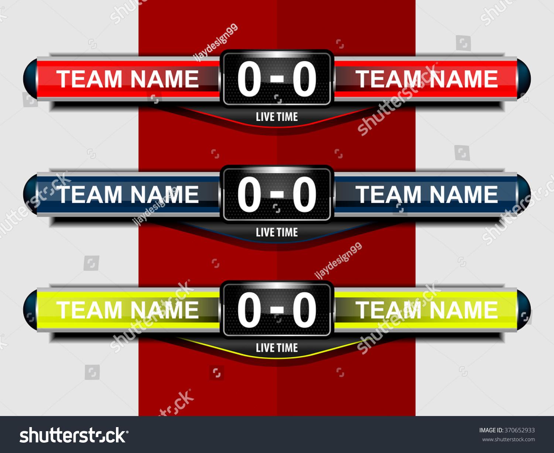 Sport Scoreboard Template Football Soccer Vector Vector – Scoreboard Template