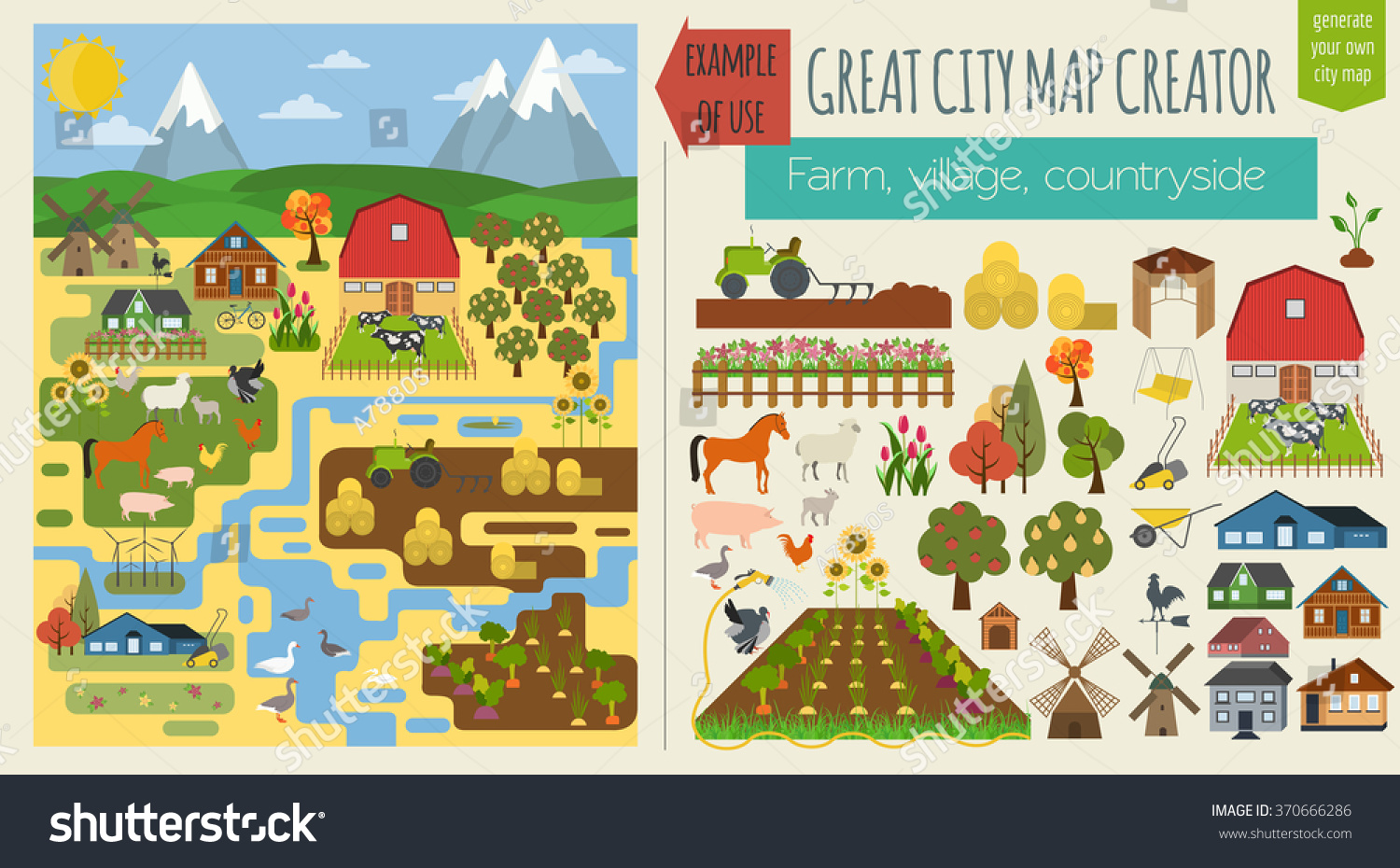 Great Farm Map Element Creator Village 370666286