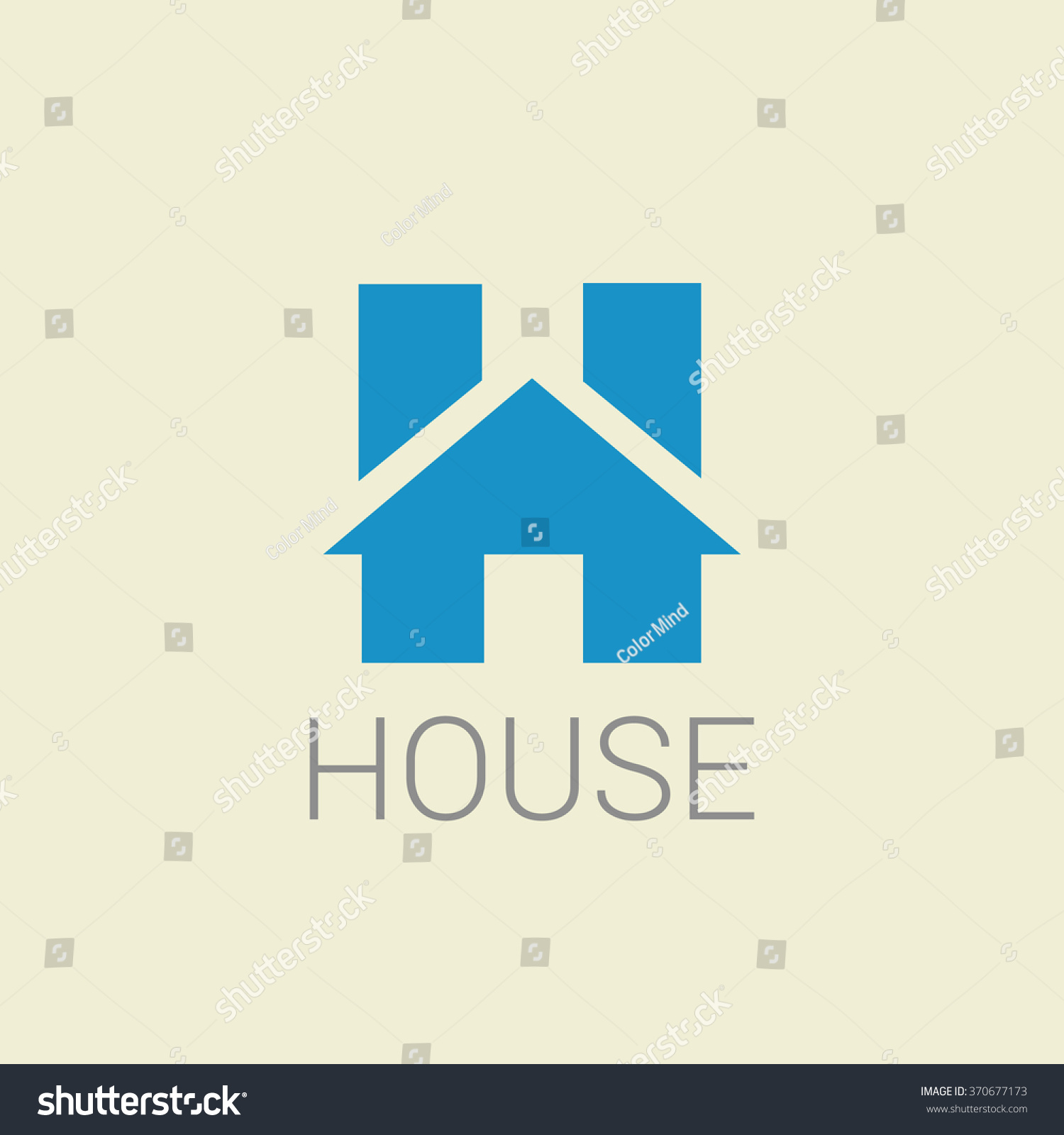 real estate letter h logo house stock vector royalty free