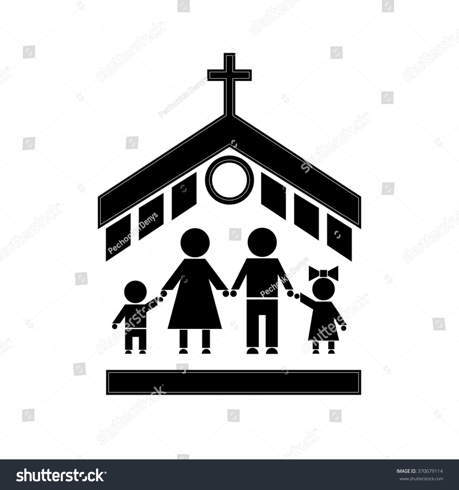 People Go To Church Family The Attends Symbols