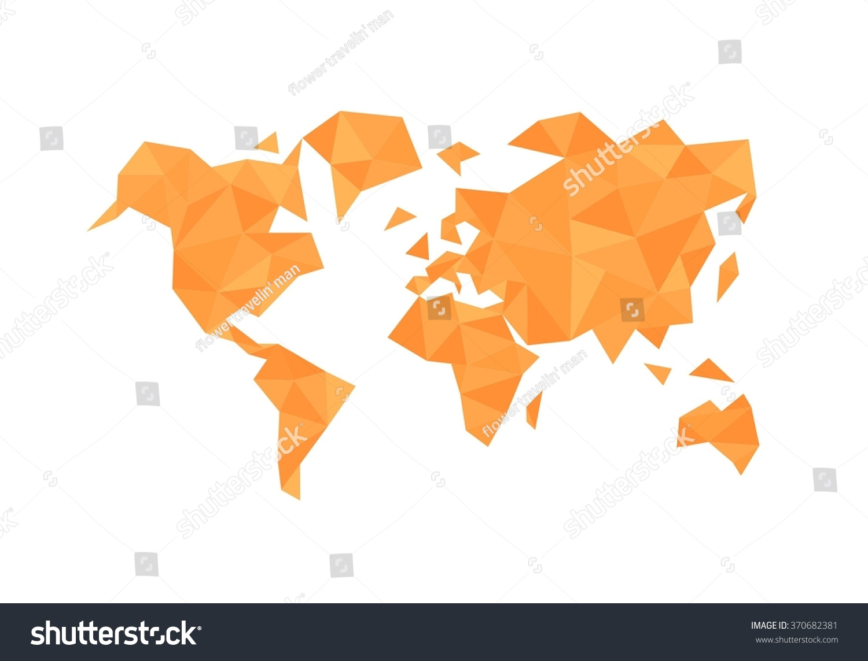 Polygonal triangle world map vector orange stock vector royalty polygonal triangle world map vector orange illustration gumiabroncs Image collections
