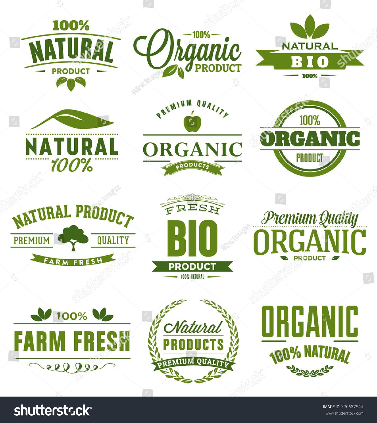 Natural organic bio farm fresh design stock vector for Fresh design