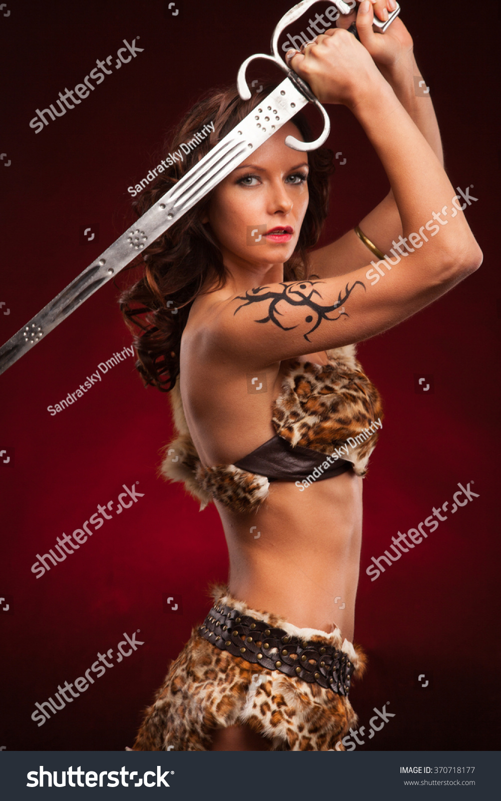 Hot barbarian woman adult scene