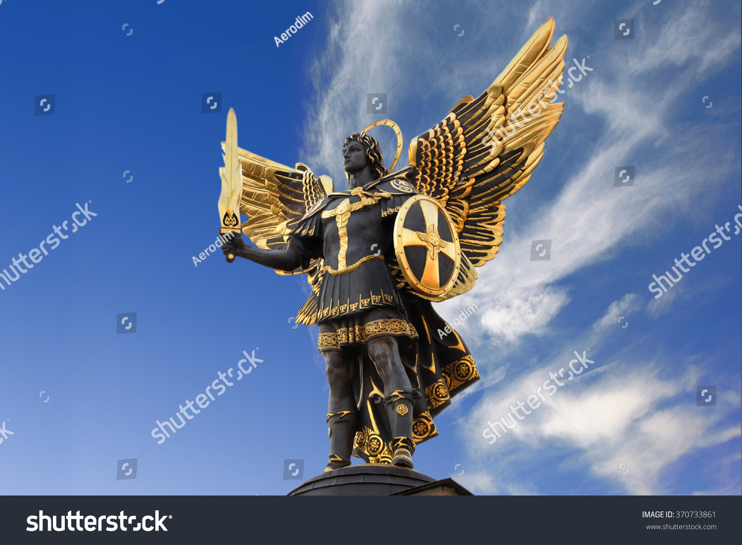 Archangel michael sculpture independence square maidan stock photo archangel michael sculpture at independence square maidan nezal biocorpaavc Images