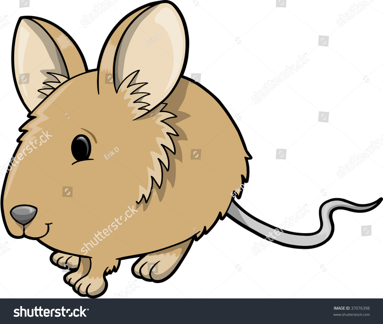 Cute Mouse Vector Illustration Stock Vector 37076398 ...
