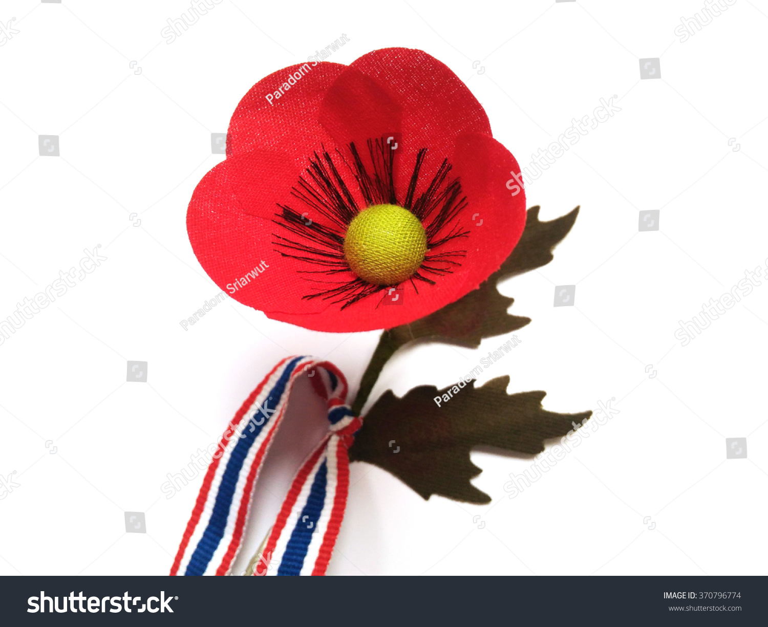 Poppy Flower Thai Veterans Day 3 Stock Photo Edit Now 370796774