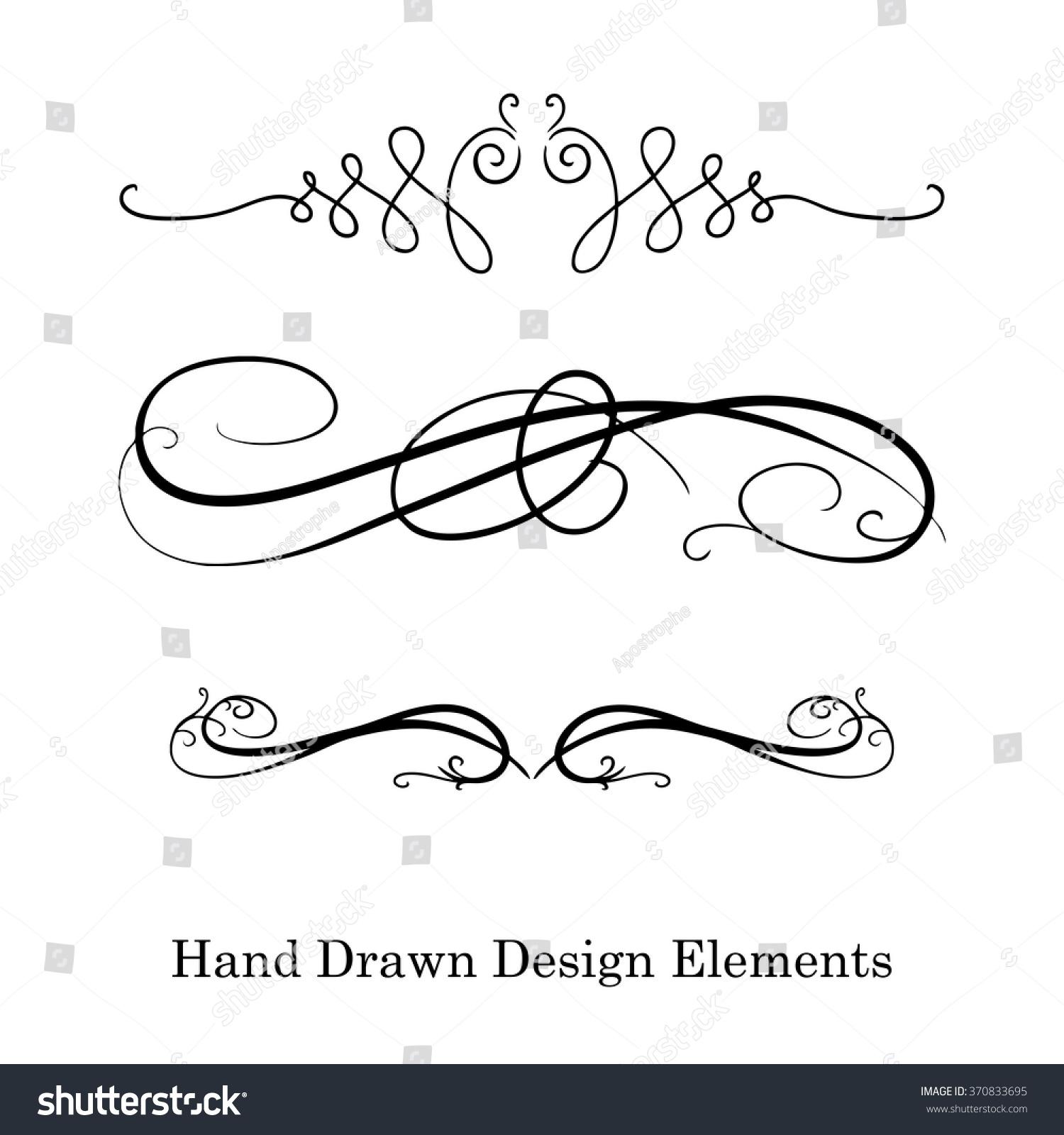 Element Design : Vector design element beautiful fancy curls stock