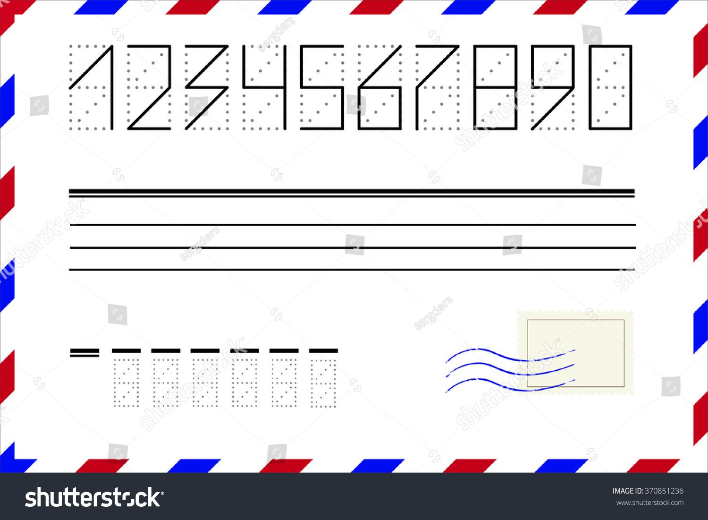 Drawing Smooth Lines Zipcode : Zip code numbers postal stamp wave stock vector