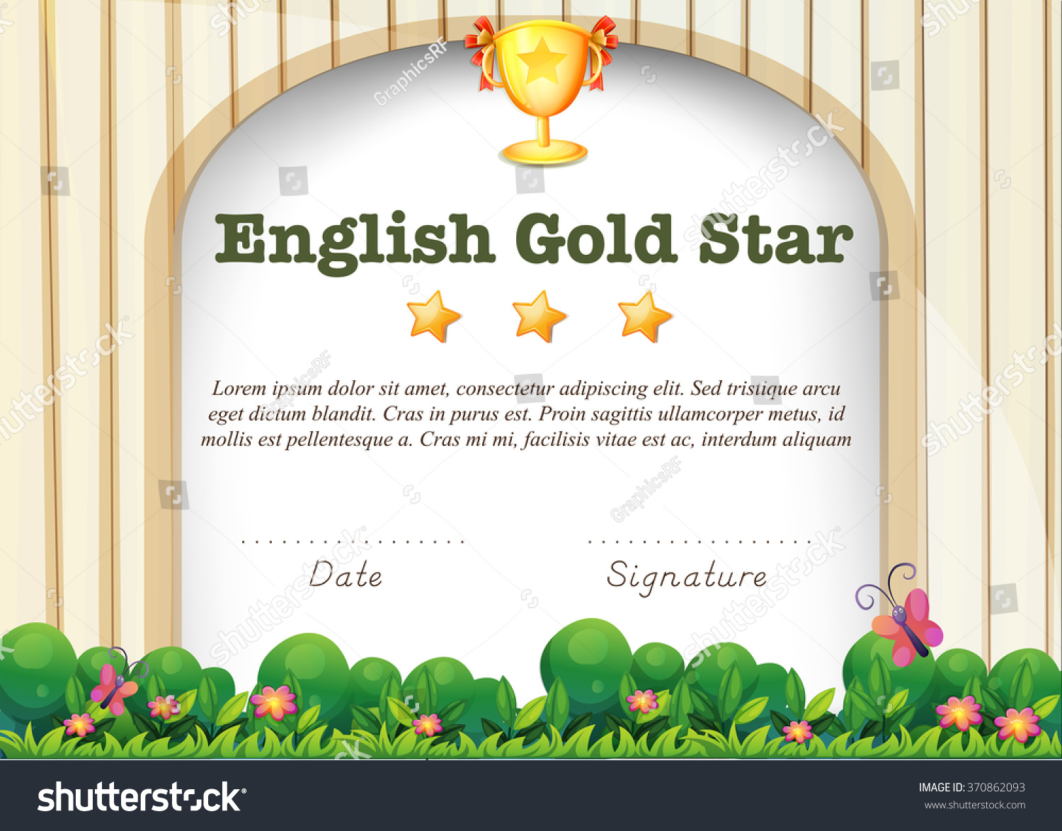 certification template for english subject illustration certification template for english subject illustration