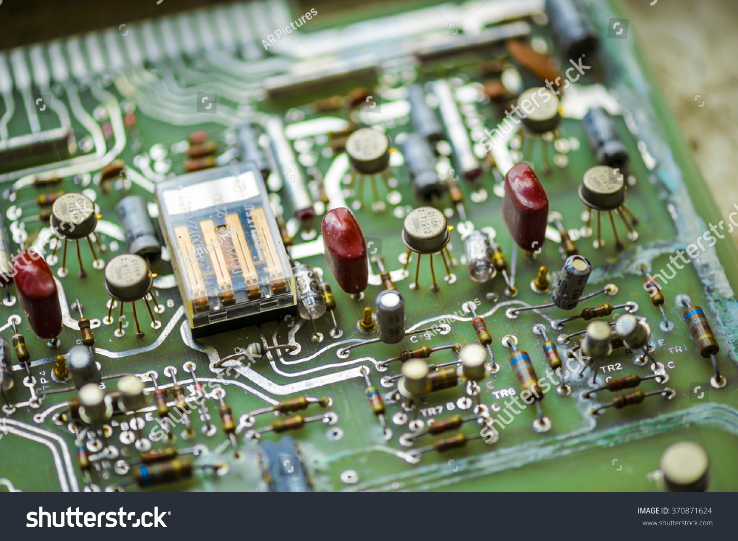 Old Printed Circuit Board Electronic Components Stock Photo Edit Photos Images Pictures Shutterstock With