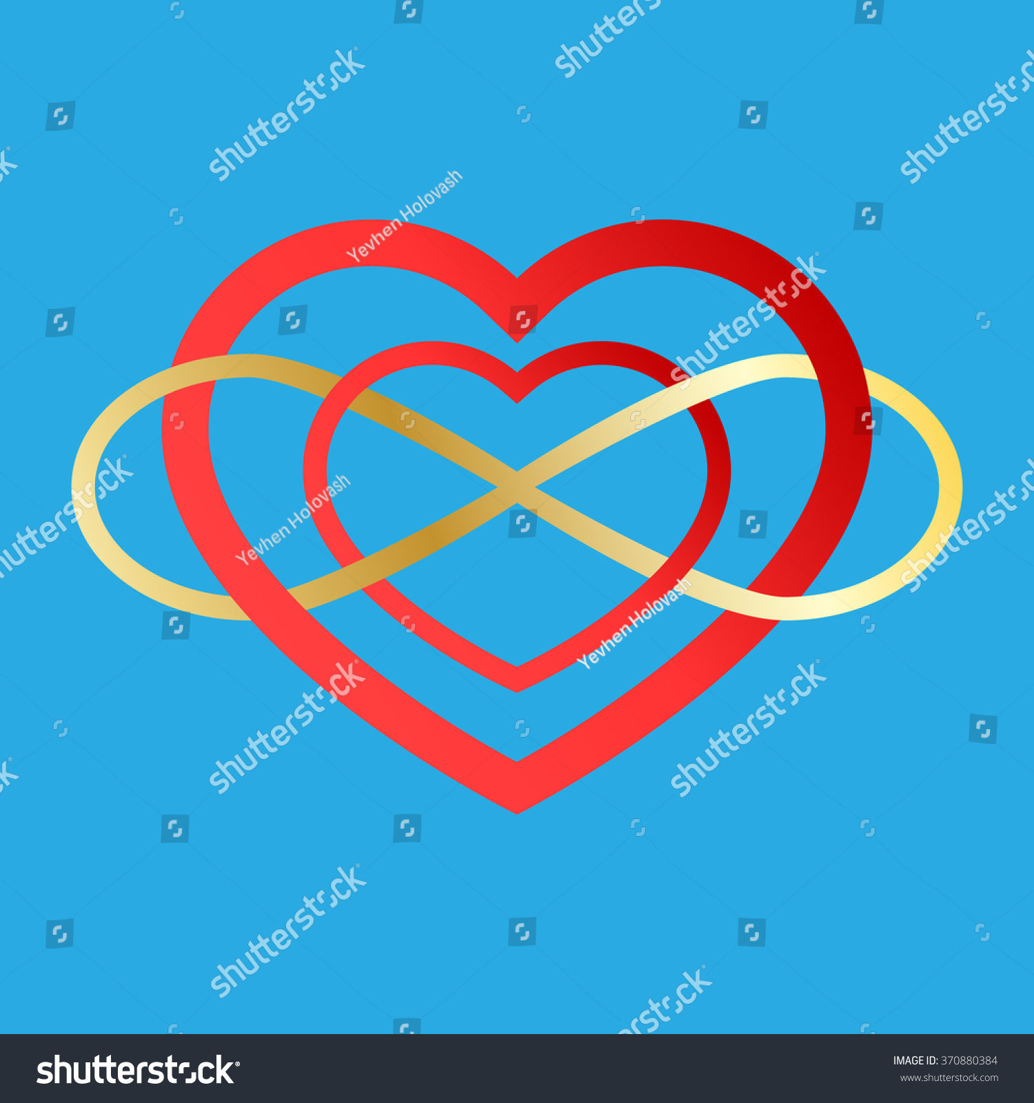 Vector infinity icon illustration eternity symbol stock vector illustration of an eternity symbol placed on a red heart love biocorpaavc Images