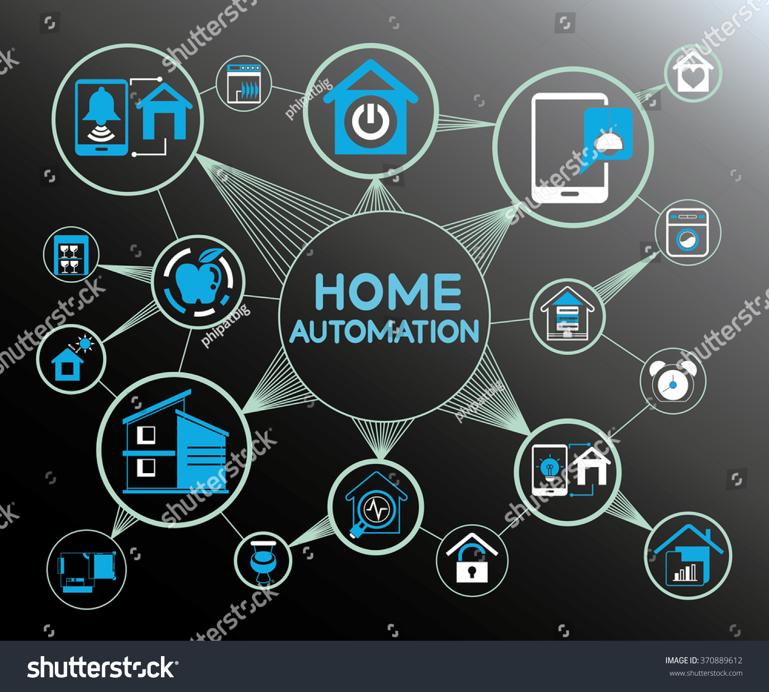 Home Automation System Home Automation Network Stock ... Home Automation System Icon
