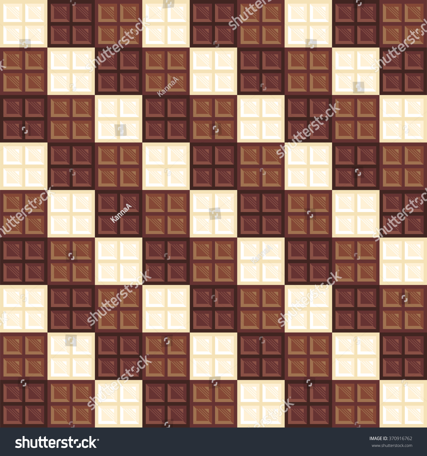 Chocolate Bars Seamless Pattern Different Types Stock Vector ...
