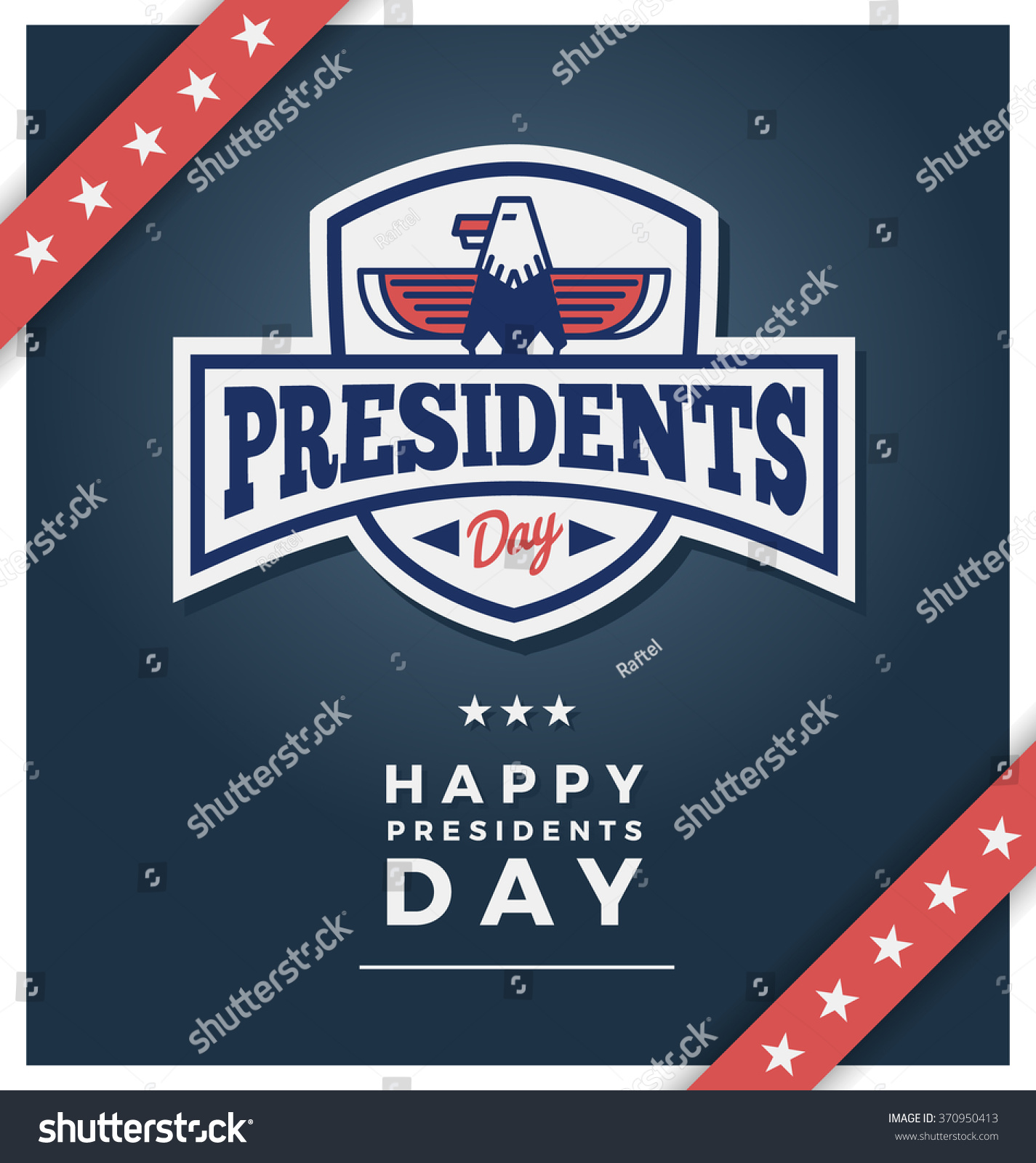presidents day sign on dark blue stock vector 370950413