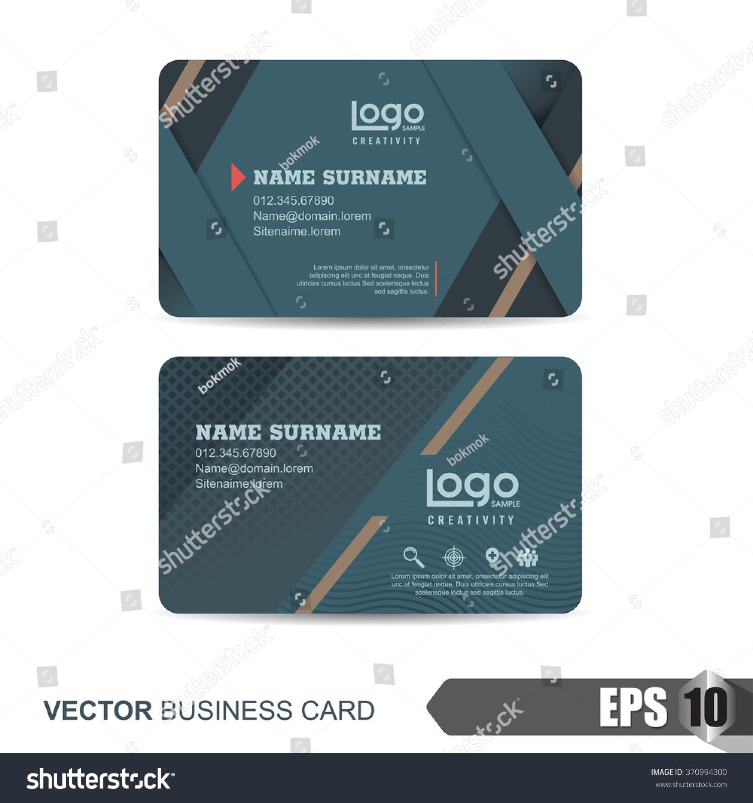 Business Card Templatevector Illustration Stock Vector 370994300 ...