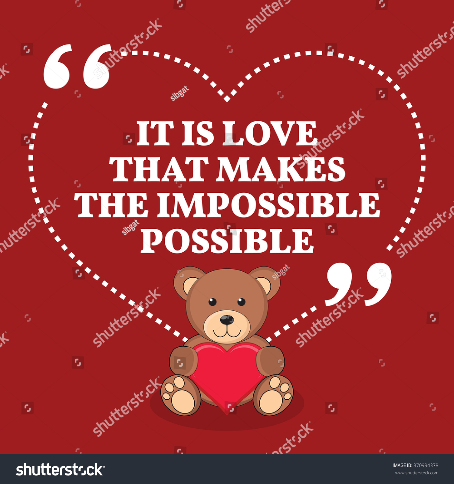 Quote It Inspirational Love Marriage Quote Love That Stock Vector 370994378